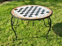hand crafted chess table